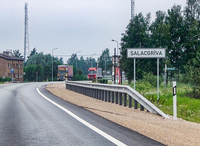 Ограничения движения в связи с ремонтом автомобильных дорог Латвии